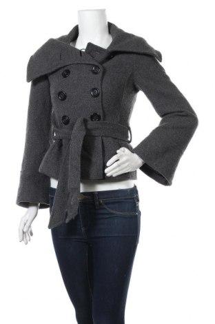 Дамско палто, Размер S, Цвят Сив, 80% вълна, 20% полиестер, Цена 48,30лв.