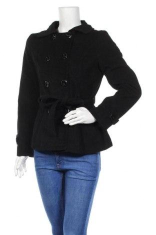 Дамско палто, Размер M, Цвят Черен, 97% полиестер, 3% еластан, Цена 16,80лв.