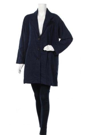 Дамско палто, Размер XXL, Цвят Син, Цена 43,47лв.
