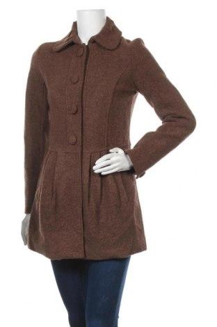 Дамско палто, Размер S, Цвят Кафяв, 55% вискоза, 45% вълна, Цена 30,45лв.