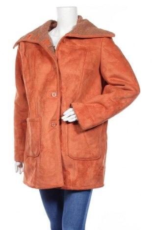 Дамско палто, Размер L, Цвят Оранжев, Полиестер, Цена 17,64лв.