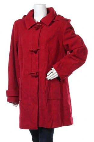 Дамско палто, Размер XXL, Цвят Червен, 60% вълна, 35% полиамид, 5% кашмир, Цена 44,10лв.