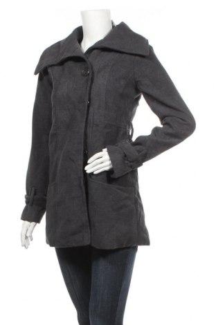Дамско палто, Размер XS, Цвят Сив, 80% полиестер, 20% памук, Цена 20,74лв.