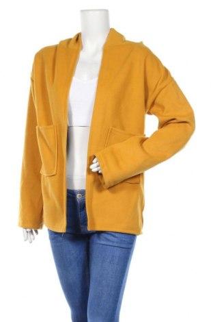 Дамско палто, Размер M, Цвят Жълт, 60% памук, 40% полиестер, Цена 25,41лв.