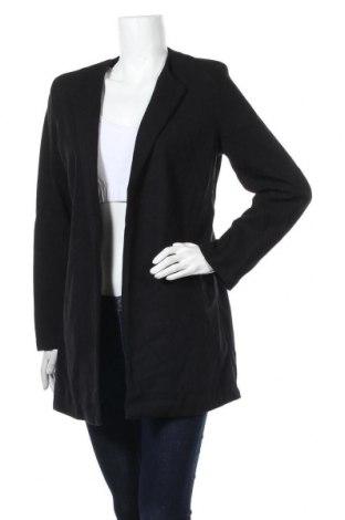 Дамско палто, Размер XL, Цвят Черен, 85% вискоза, 10% полиестер, 5% еластан, Цена 32,08лв.
