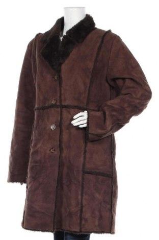 Дамско палто, Размер L, Цвят Кафяв, Полиестер, Цена 20,74лв.