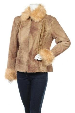 Дамско палто, Размер XL, Цвят Кафяв, Полиестер, Цена 20,58лв.