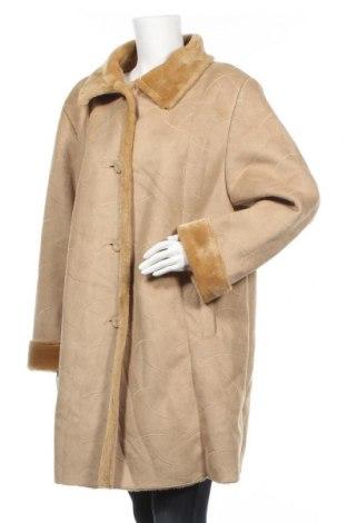 Дамско палто, Размер XL, Цвят Бежов, Полиестер, Цена 19,69лв.