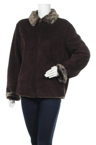 Дамско палто, Размер M, Цвят Кафяв, 80% полиакрил, 20% полиестер, Цена 11,83лв.