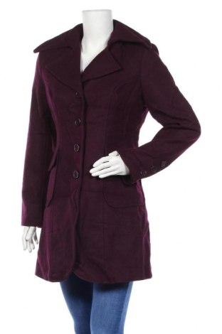 Дамско палто, Размер S, Цвят Лилав, 60% вълна, 40% вискоза, Цена 41,16лв.