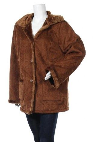 Дамско палто, Размер L, Цвят Кафяв, Полиестер, Цена 15,23лв.