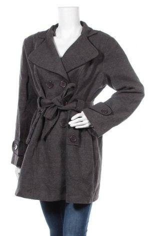 Дамско палто, Размер XXL, Цвят Сив, 79% вълна, 25% еластан, Цена 25,20лв.