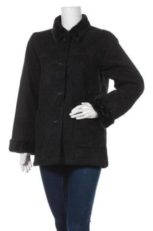 Дамско палто, Размер S, Цвят Черен, 85% полиестер, 15% акрил, Цена 14,70лв.