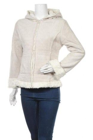Дамско палто, Размер S, Цвят Бежов, 60% акрил, 40% полиестер, Цена 17,64лв.