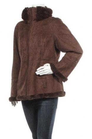 Дамско палто, Размер L, Цвят Кафяв, Полиестер, Цена 22,42лв.
