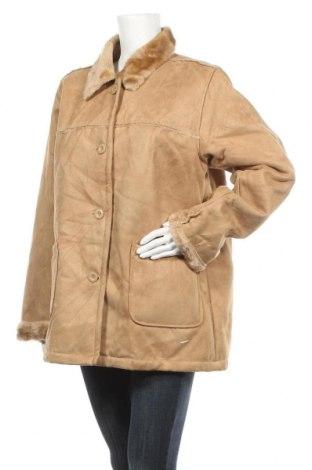 Дамско палто, Размер XL, Цвят Кафяв, 85% полиестер, 15% акрил, Цена 16,91лв.