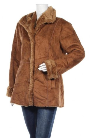 Дамско палто, Размер M, Цвят Кафяв, Полиестер, Цена 14,18лв.