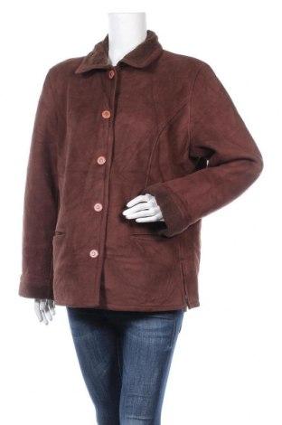 Дамско палто, Размер XL, Цвят Кафяв, 86% полиестер, 14% акрил, Цена 19,11лв.