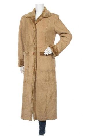 Дамско палто, Размер XL, Цвят Бежов, Полиестер, Цена 34,02лв.