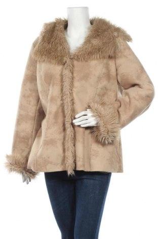 Дамско палто, Размер XL, Цвят Бежов, Полиестер, Цена 13,55лв.