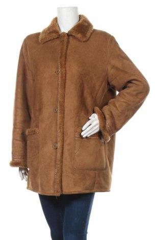 Дамско палто, Размер XL, Цвят Кафяв, Полиестер, Цена 12,08лв.