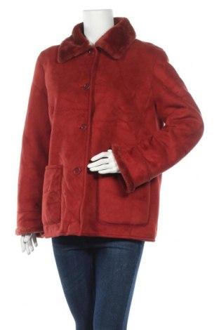 Дамско палто, Размер M, Цвят Червен, 77% полиакрил, 23% полиестер, Цена 21,84лв.