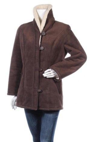 Дамско палто, Размер S, Цвят Кафяв, 100% полиестер, Цена 20,16лв.