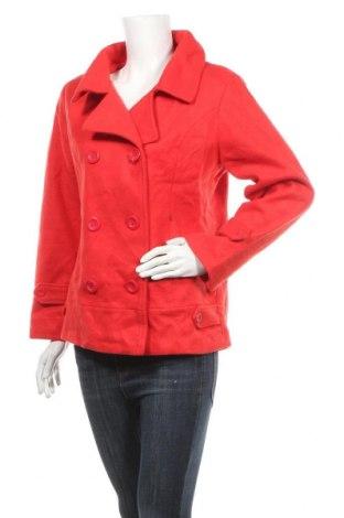 Дамско палто 3 Suisses Collection, Размер S, Цвят Червен, Полиестер, Цена 14,18лв.