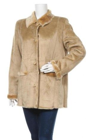 Дамско палто Alba Moda, Размер M, Цвят Бежов, 47% полиакрил, 53% полиестер, Цена 20,95лв.
