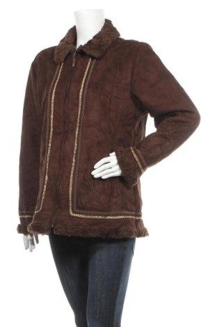 Дамско палто Alia, Размер L, Цвят Кафяв, 60% полиестер, 40% акрил, Цена 13,39лв.