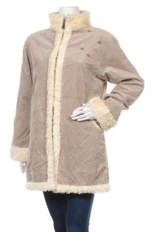 Дамско палто Animal, Размер L, Цвят Бежов, Памук, Цена 25,04лв.