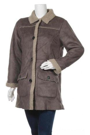 Дамско палто Atlas For Women, Размер M, Цвят Сив, Полиестер, Цена 23,52лв.