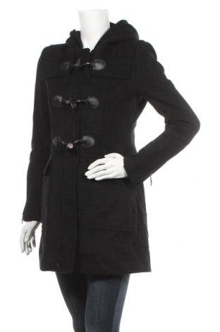 Дамско палто BCBG Max Azria, Размер S, Цвят Черен, 60% вълна, 35% полиестер, 5% кашмир, Цена 52,92лв.