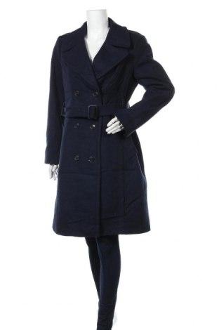 Дамско палто Banana Republic, Размер L, Цвят Син, 80% вълна, 20% полиамид, Цена 125,16лв.