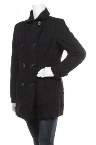 Γυναικείο παλτό Bon'a Parte, Μέγεθος L, Χρώμα Μαύρο, 60% μαλλί, 40% βισκόζη, Τιμή 30,39€