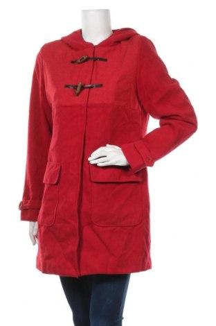 Дамско палто Bpc Bonprix Collection, Размер M, Цвят Червен, 88% полиестер, 10% вискоза, 2% еластан, Цена 25,52лв.