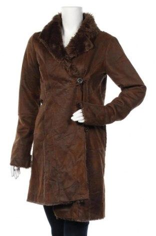 Γυναικείο παλτό Camaieu, Μέγεθος L, Χρώμα Καφέ, Τιμή 25,30€
