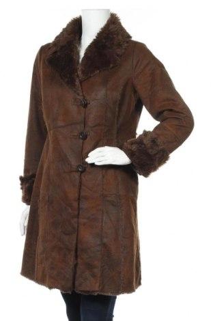 Γυναικείο παλτό Camaieu, Μέγεθος M, Χρώμα Καφέ, Πολυεστέρας, Τιμή 36,37€