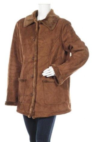 Дамско палто Canda, Размер XL, Цвят Кафяв, 75% акрил, 25% полиестер, Цена 18,90лв.