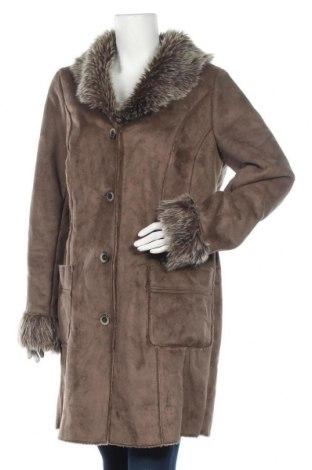Дамско палто City Chic, Размер L, Цвят Кафяв, Полиестер, Цена 35,44лв.