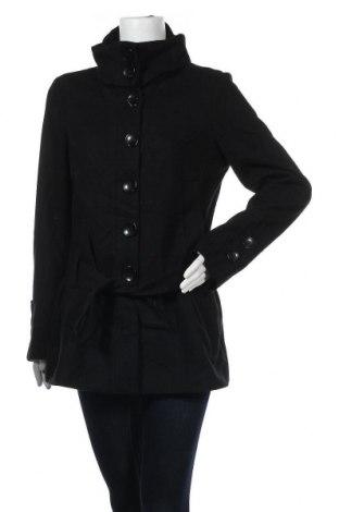 Дамско палто Clockhouse, Размер M, Цвят Черен, 60% вълна, 20% полиестер, 20% вискоза, Цена 25,20лв.