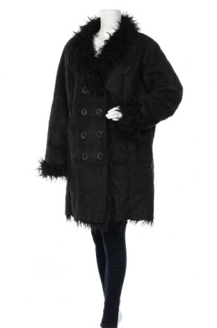 Дамско палто Clockhouse, Размер 3XL, Цвят Черен, 60% полиестер, 40% акрил, Цена 34,44лв.