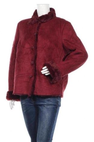 Дамско палто, Размер M, Цвят Червен, Полиестер, Цена 10,92лв.