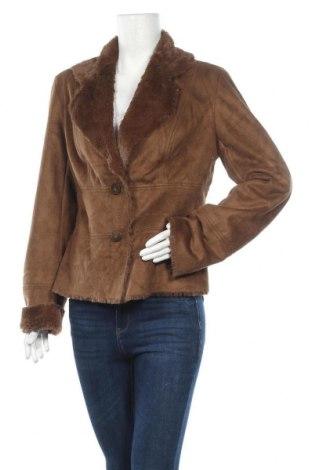 Дамско палто Coldwater Creek, Размер M, Цвят Кафяв, Полиестер, Цена 23,52лв.