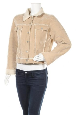 Дамско палто Crazy World, Размер XL, Цвят Бежов, 97% полиестер, 3% вискоза, Цена 17,64лв.
