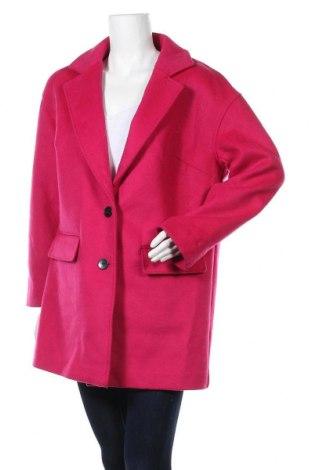 Дамско палто Creation L, Размер L, Цвят Розов, 70% полиестер, 30% вълна, Цена 58,07лв.