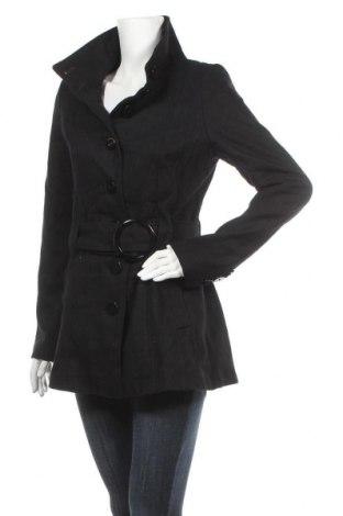 Дамско палто Cubus, Размер M, Цвят Черен, 60% вълна, 20% полиестер, 20% вискоза, Цена 19,53лв.
