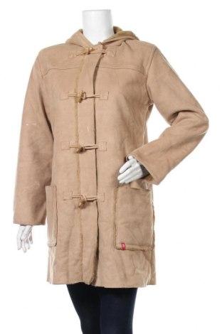 Дамско палто Edc By Esprit, Размер M, Цвят Бежов, Полиестер, Цена 17,64лв.