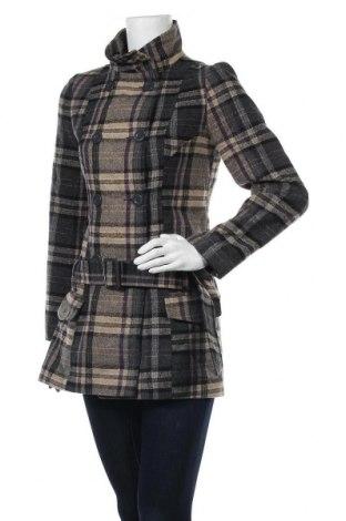 Дамско палто F&F, Размер S, Цвят Многоцветен, 44% полиестер, 30% вълна, 27% акрил, 2% полиамид, Цена 47,88лв.
