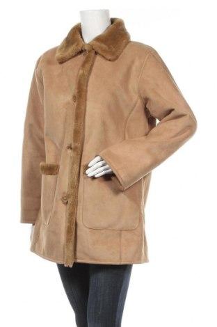 Дамско палто Fabiani, Размер L, Цвят Бежов, 63% полиакрил, 37% полиестер, Цена 52,87лв.